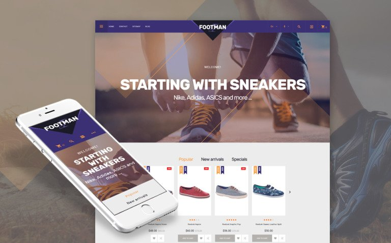 Footman - Sneakers Store PrestaShop Theme New Screenshots BIG