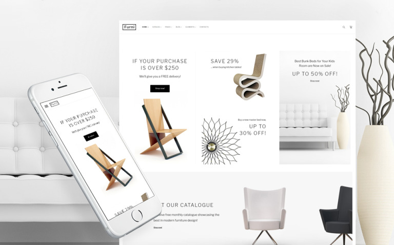 Furni - Furniture Store Multipage Website Template New Screenshots BIG