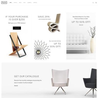 28 best furniture website templates templatemonster. Black Bedroom Furniture Sets. Home Design Ideas