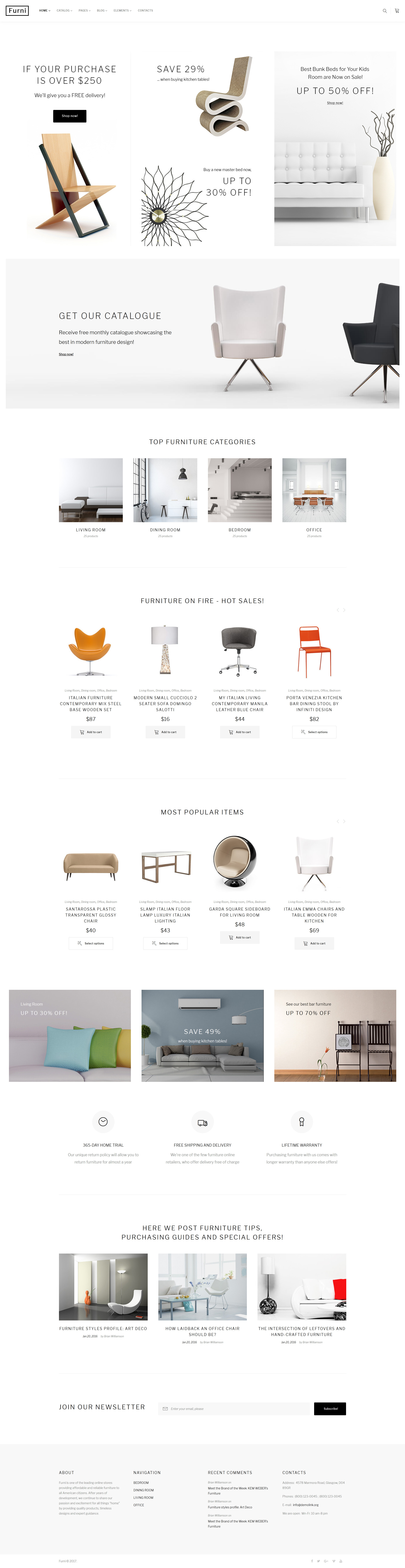 """Furni - Furniture Store Multipage"" 响应式网页模板 #62272"