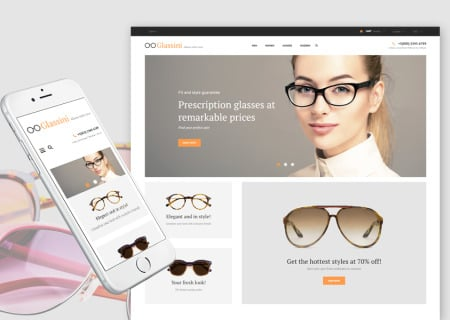 Luxury Glasses Store Responsive Prestashop