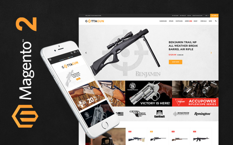 GottaGun - Gun Shop Magento Theme New Screenshots BIG