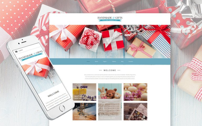 Handmade & Gifts - Crafts Blog and Gift Store Joomla Template New Screenshots BIG