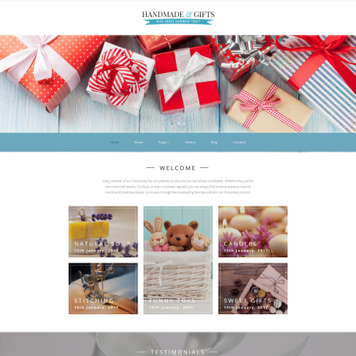 Handmade & Gifts  - Joomla! Template based on Bootstrap
