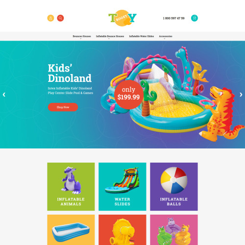 Toy Boost - Responsive Magento Template