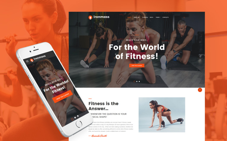 Ironmass - Fitness Center Multipage Website Template New Screenshots BIG