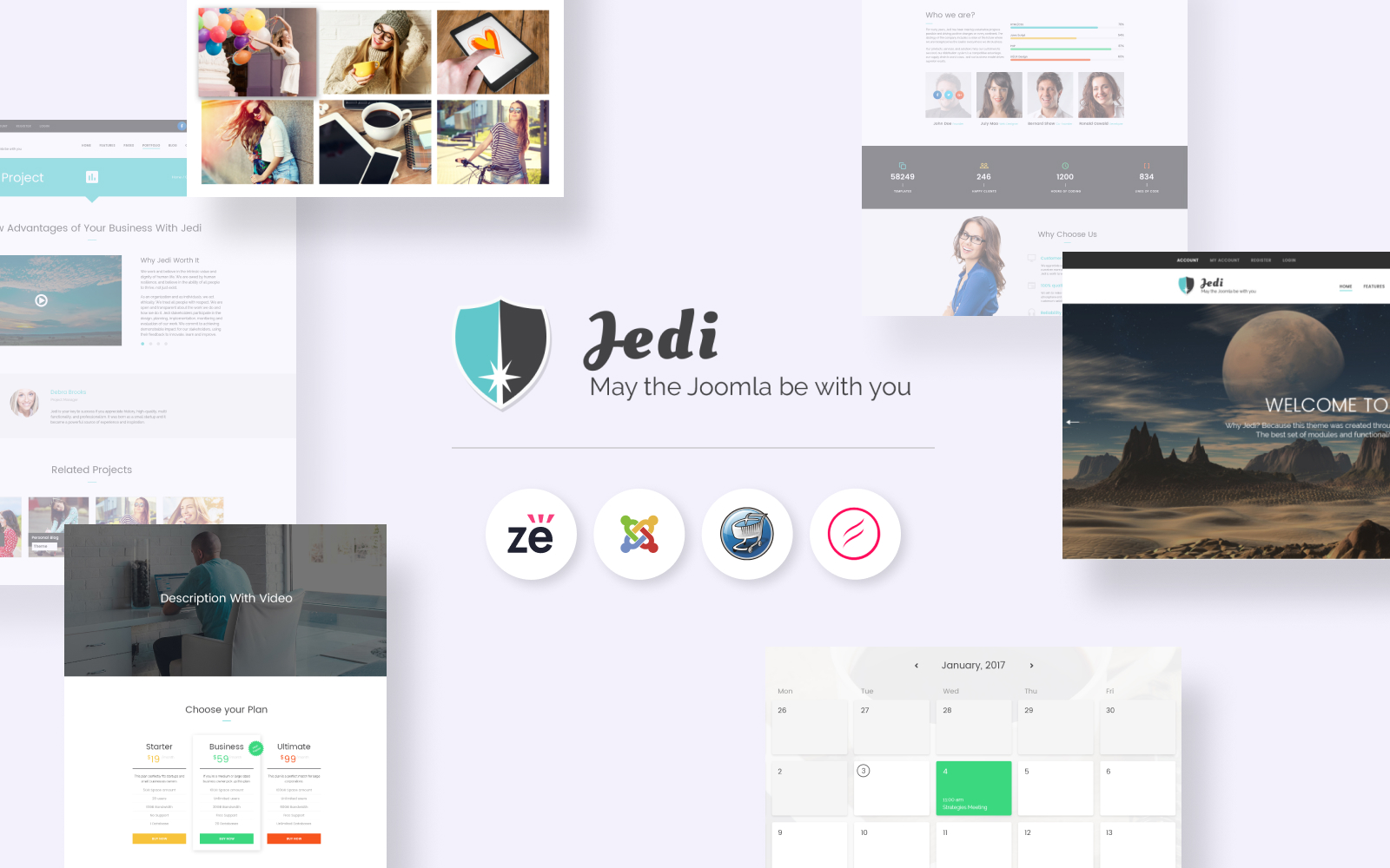 """Jedi - Creative Multipurpose"" - адаптивний Joomla шаблон №62226"