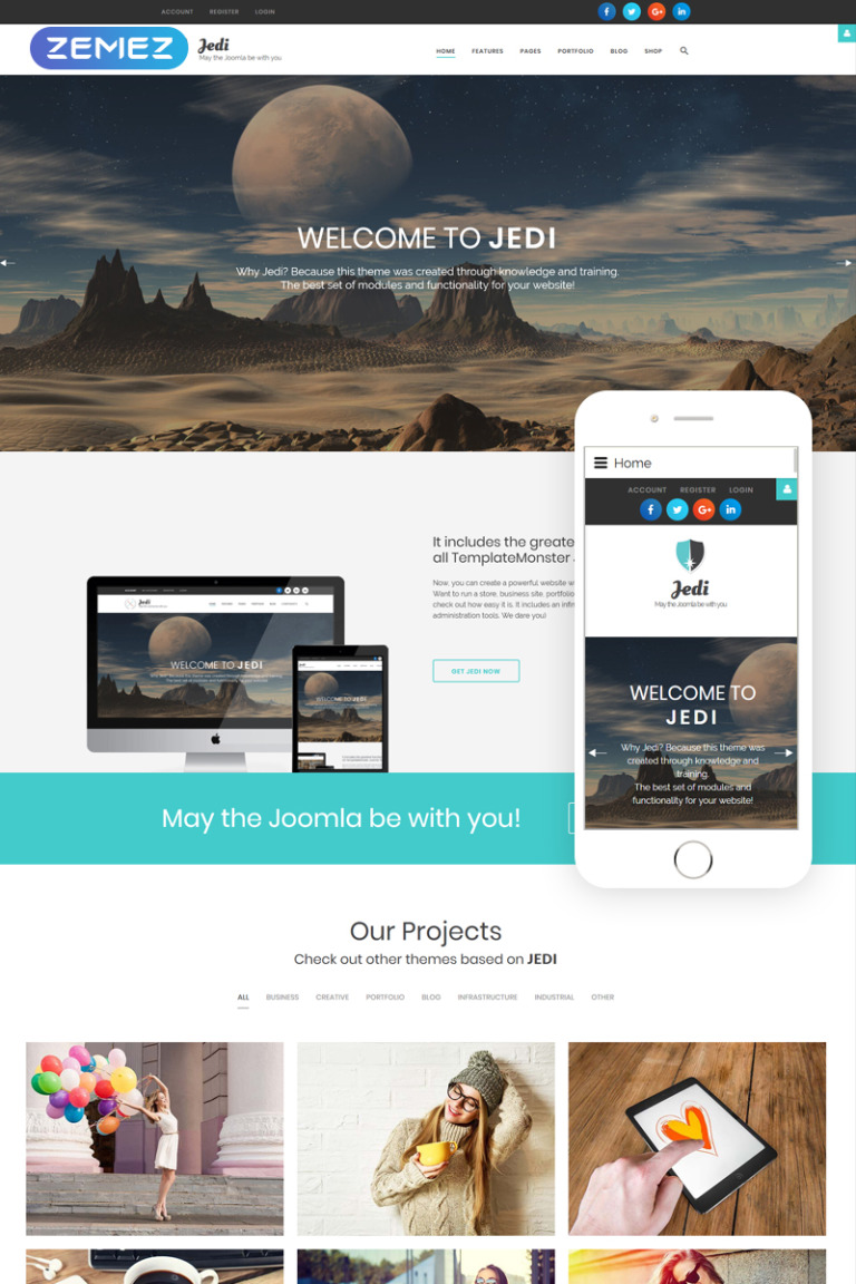 Jedi - Multifunctional Joomla Template Big Screenshot