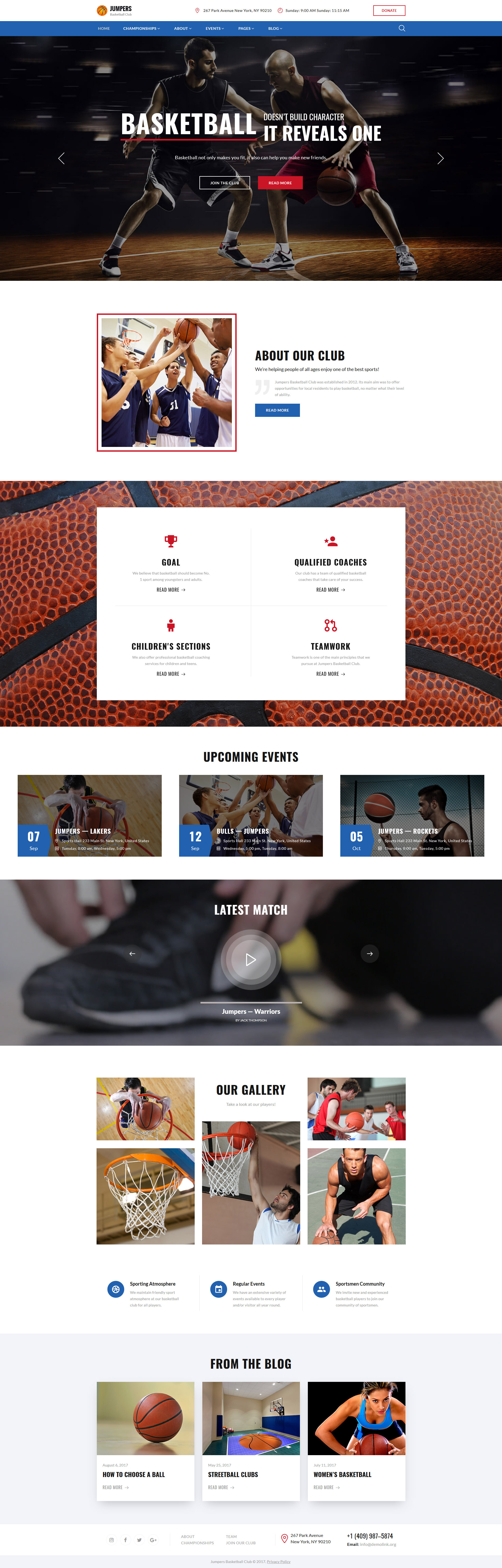 Jumpers - Basketball Club Responsive Multipage Website Template - screenshot