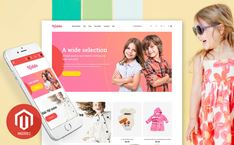 Kids Clothing Mobile-Optimized Magento Theme New Screenshots BIG
