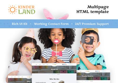 Kids Center Responsive HTML5