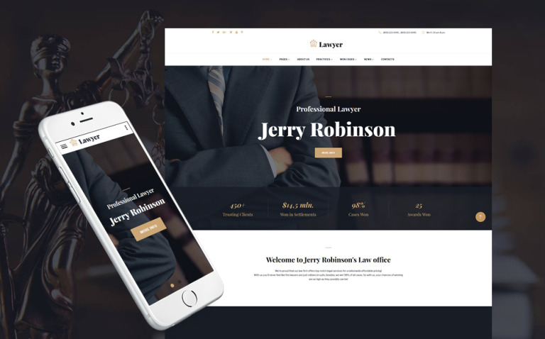 Lawyer & Attorney Multipage Website Template New Screenshots BIG