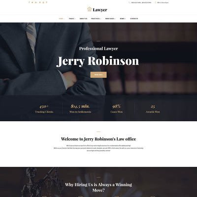 31+ Best Law Firm Website Templates
