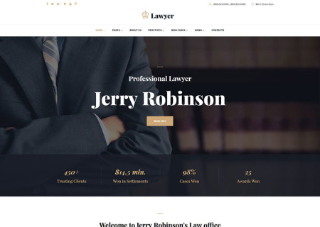 Lawyer & Attorney Multipage