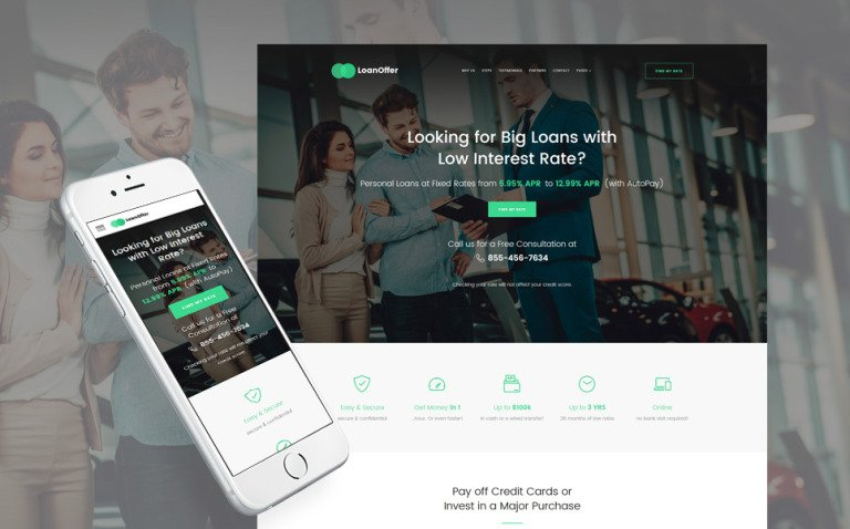 LoanOffer - Business Multipage Website Template New Screenshots BIG