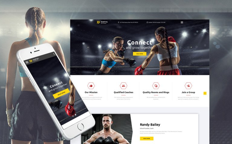 Martial Arts School Responsive Multipage Website Template New Screenshots BIG