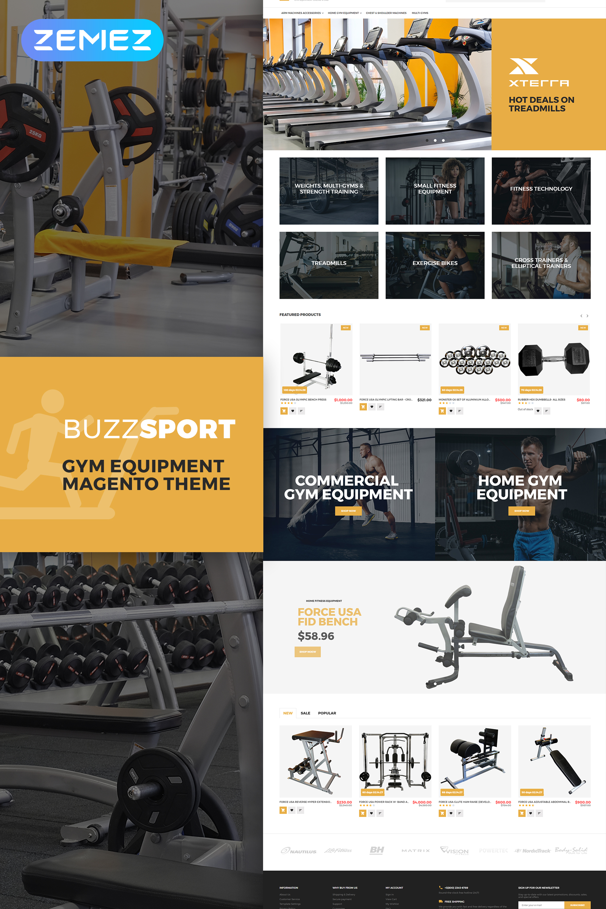"Modello Magento #62291 ""BuzzSport - Gym Equipment"""