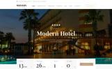 """Modern - Hôtel en bois multi-page responsive"" modèle web adaptatif"