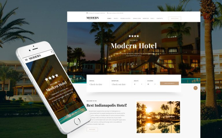 Modern - Hotel Woods Responsive Multipage Website Template New Screenshots BIG