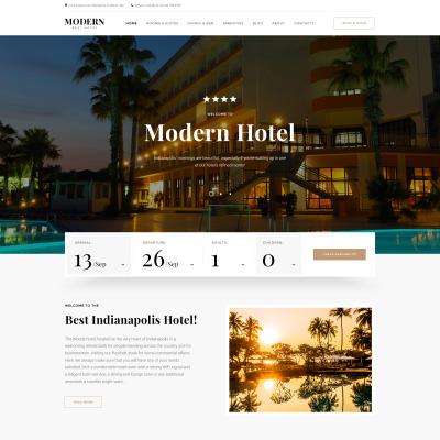 Free Hotel Website Template 51453