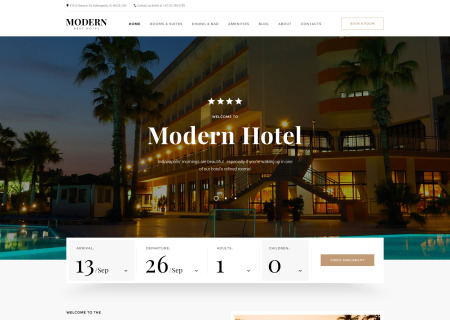 Hotel Woods Responsive Multipage