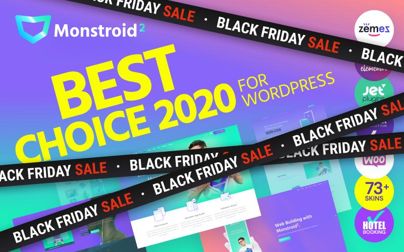 """""""Monstroid 2 - універсальний"""" - адаптивний WordPress шаблон №62222"""