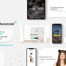 Small business website templates template monster monstroid2 multipurpose online business card website template wajeb Choice Image