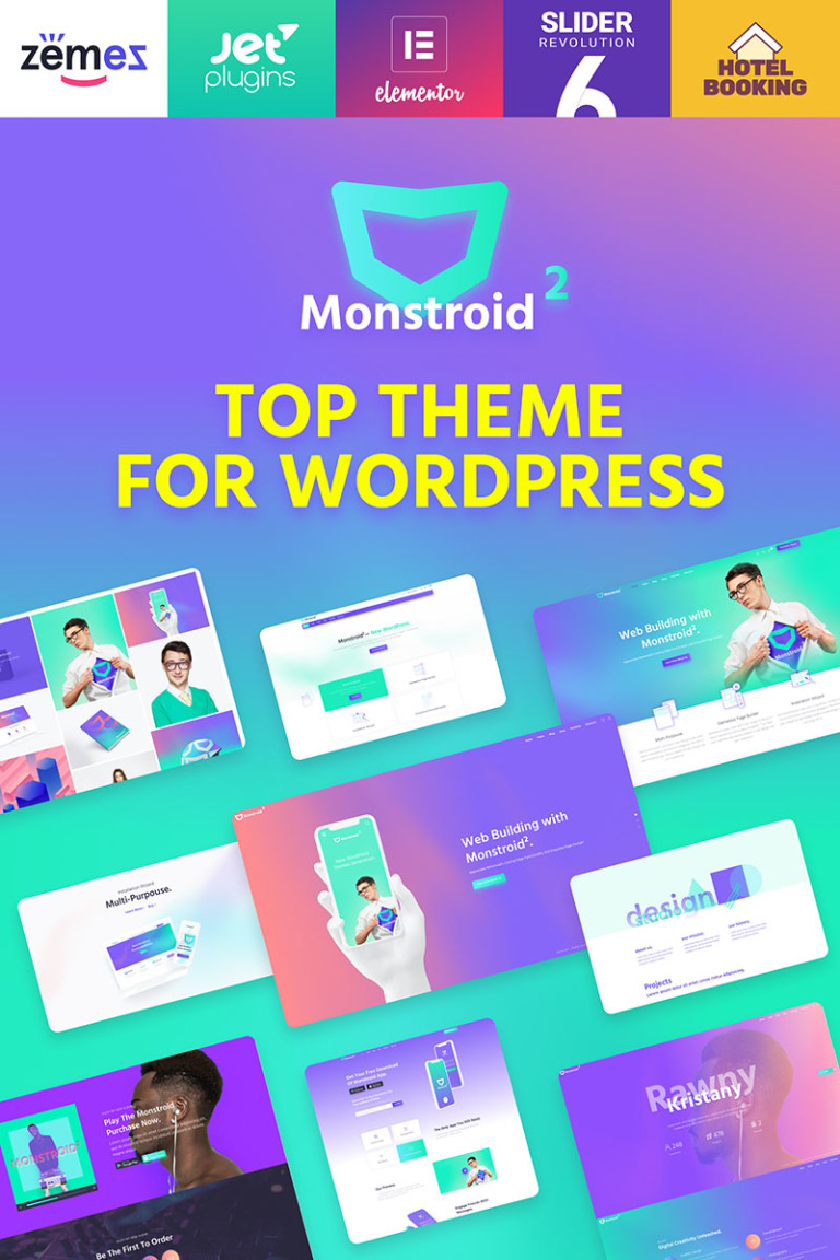 Monstroid2 - Multipurpose WordPress Theme New Screenshots BIG