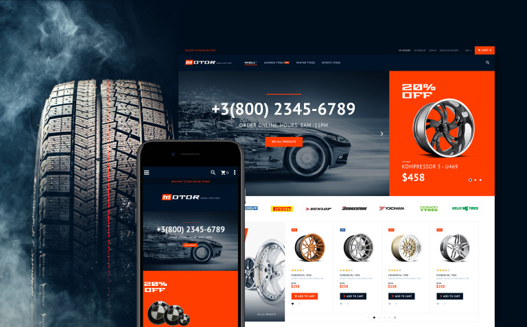 Motor - Car Services Magento Theme New Screenshots BIG