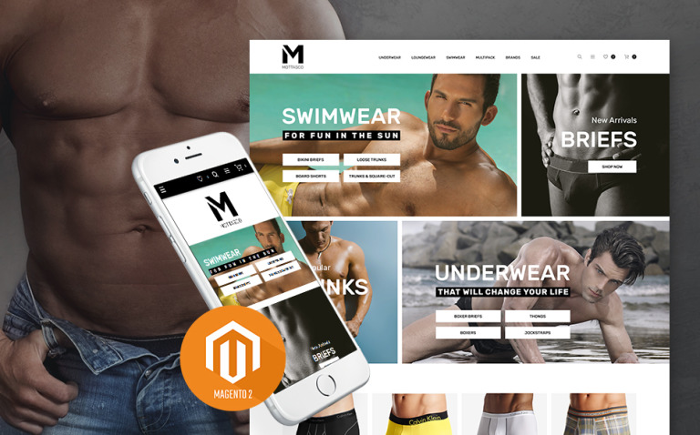 Mottasco - Mens Underwear Responsive Magento Theme New Screenshots BIG