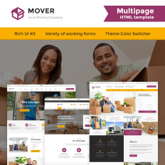 moving company responsive bootstrap website template