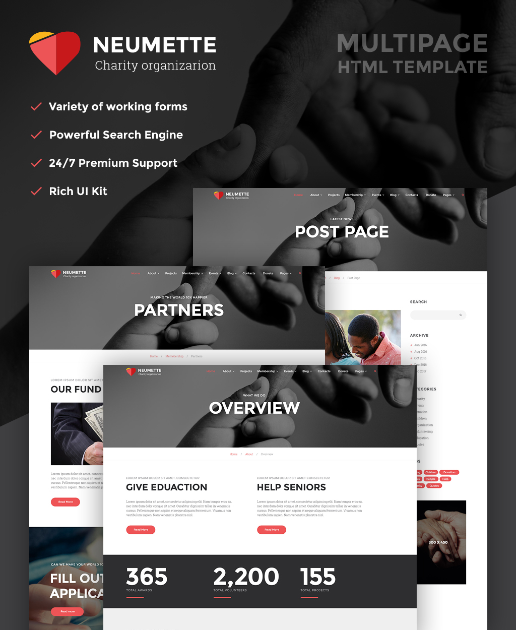 Charity Organization HTML5 Template