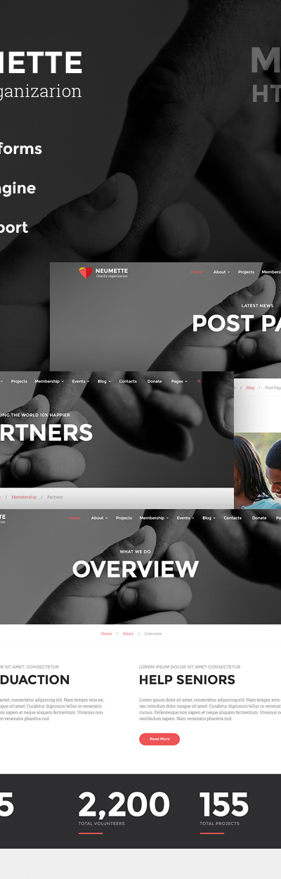 Neumette - Charity Organization HTML5 Website Template