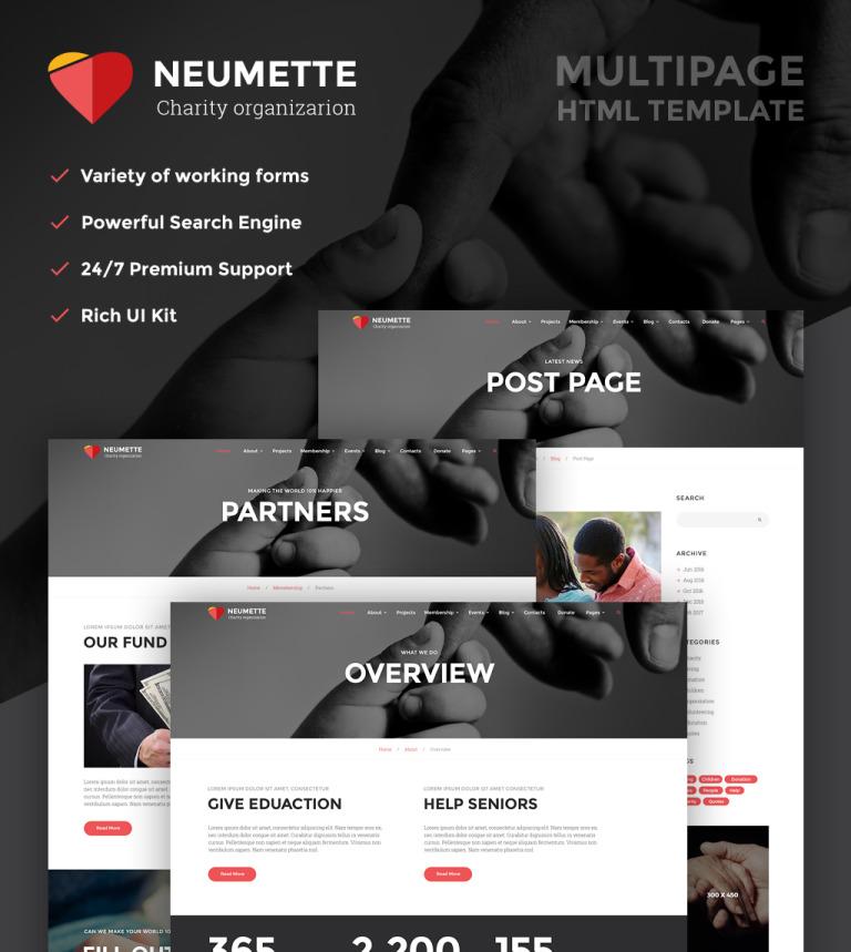 Neumette - Charity Organization HTML5 Website Template