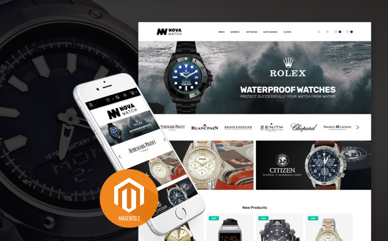 NovaWatch - Watches Store Responsive Magento Theme New Screenshots BIG
