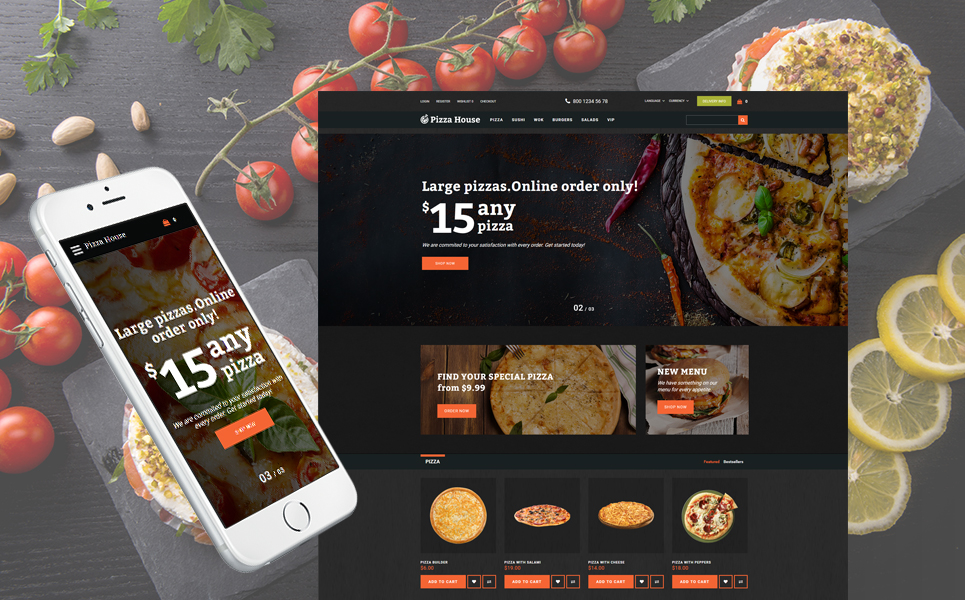 Pizza House - Advanced Pizza Restaurant OpenCart Theme