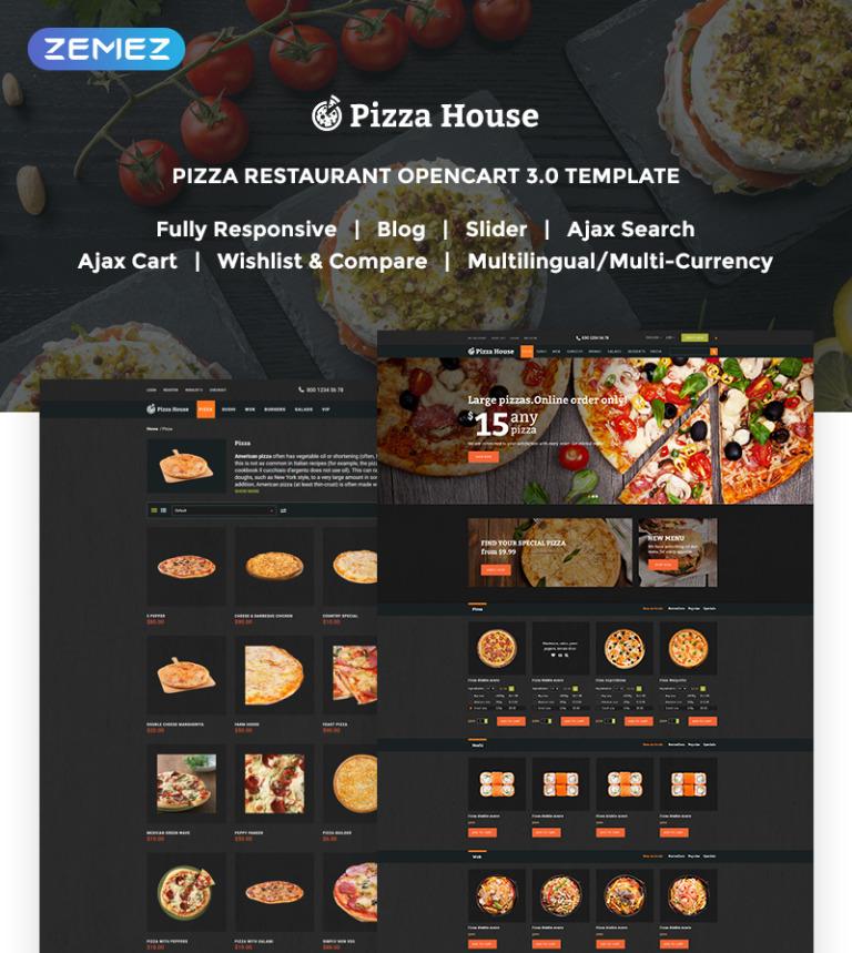 Plantilla OpenCart #62294 para Sitio de Pizzerías