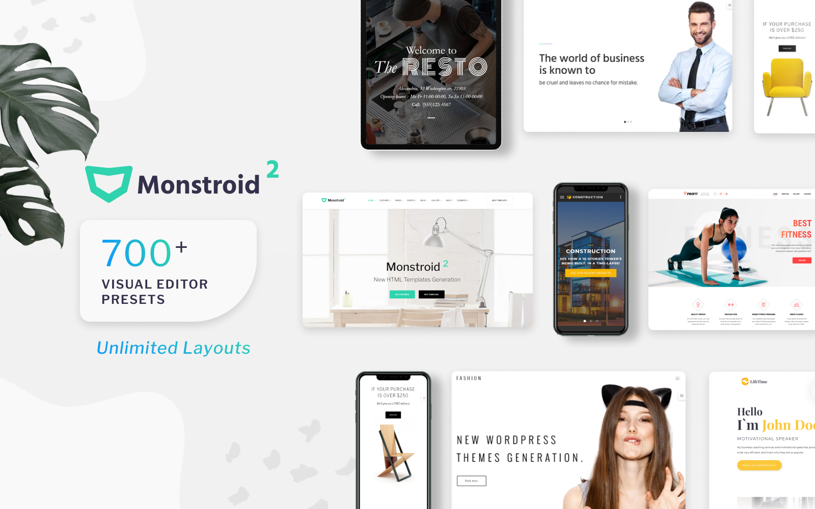 Responsive Monstroid2 Multipurpose Web Sitesi #62267