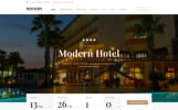 Responsive Website template over Hotels