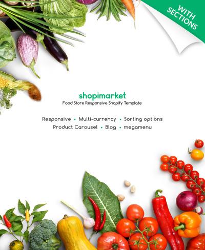 Responsives Shopify Theme für Lebensmittelgeschäft