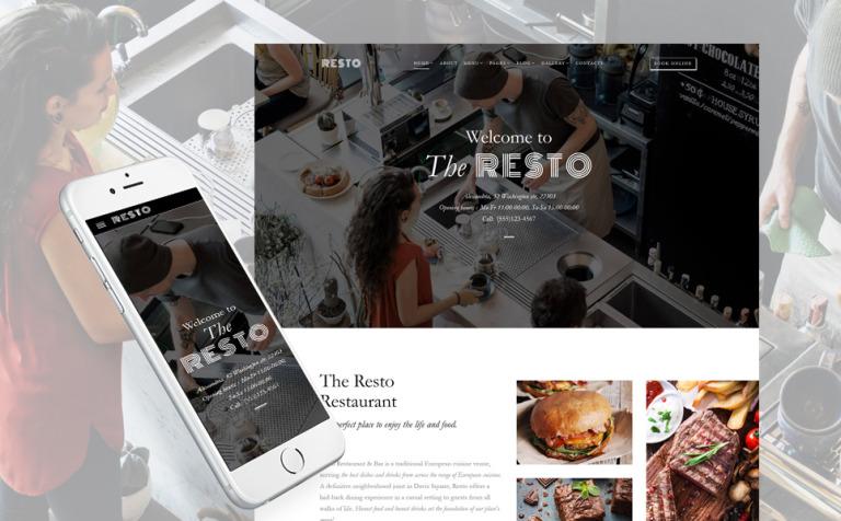 Resto - Cafe & Restaurant Multipage Website Template
