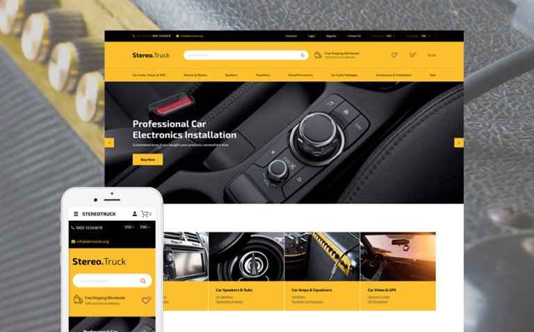 Сar Audio Responsive OpenCart Template New Screenshots BIG