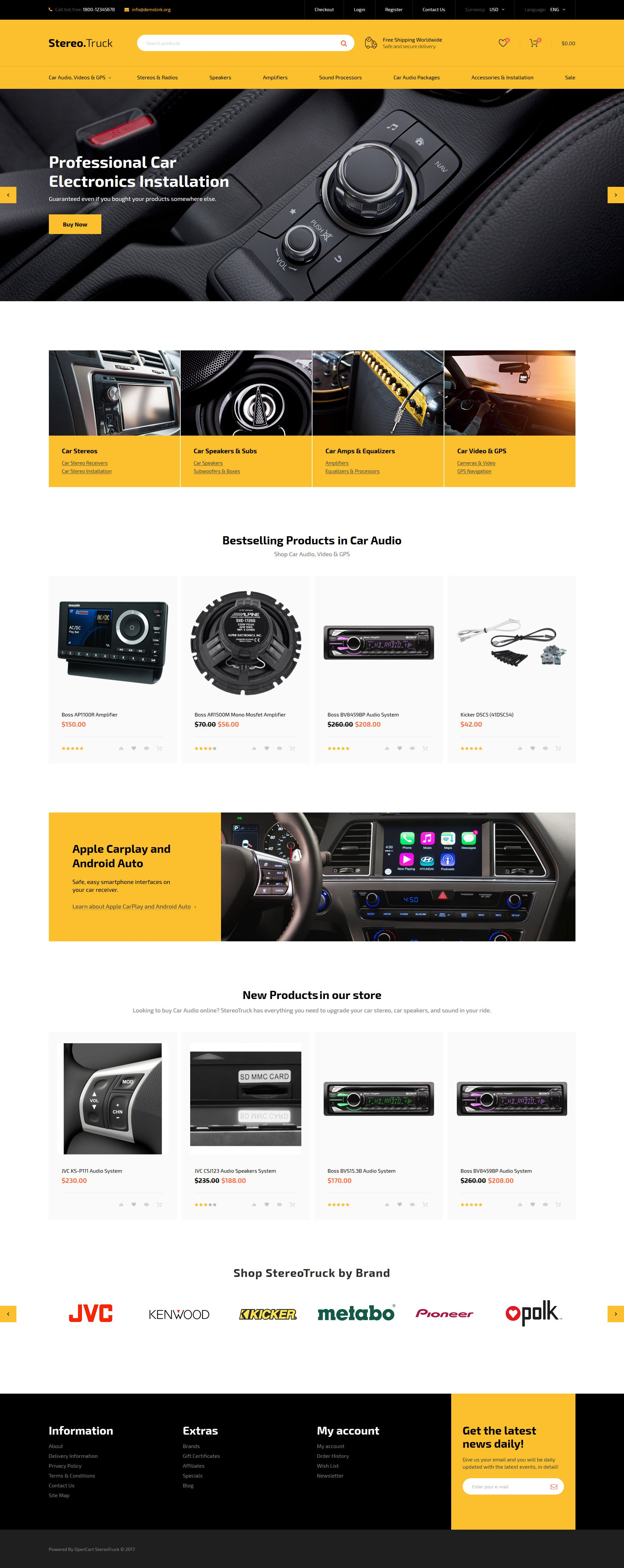 Сar Audio Responsive OpenCart Template - screenshot