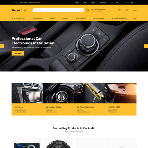 Stereo Truck - Responsive OpenCart Template