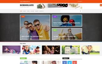 School Blog Joomla Template