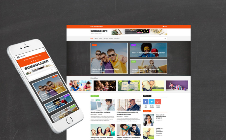 School Blog Joomla Template New Screenshots BIG
