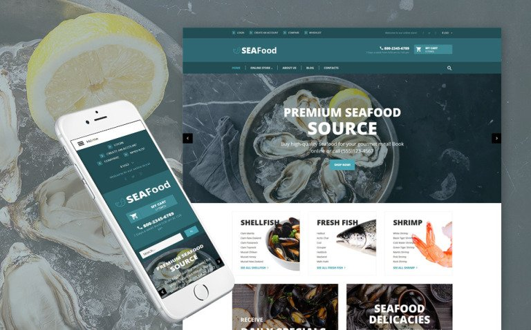 SeaFood - The Best Seafood Delicacies VirtueMart Template New Screenshots BIG