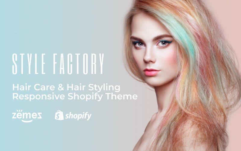 "Shopify Theme namens ""Style Factory - Hair Care & Hair Styling Responsive"" #62235 - Screenshot"