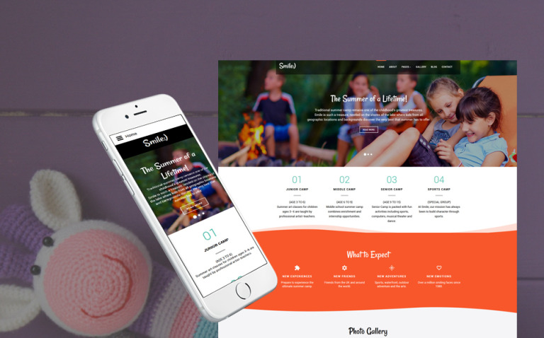 Smile - Summer Camp Joomla Template New Screenshots BIG