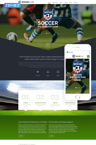 Thème Joomla adaptatif  pour site de soccer
